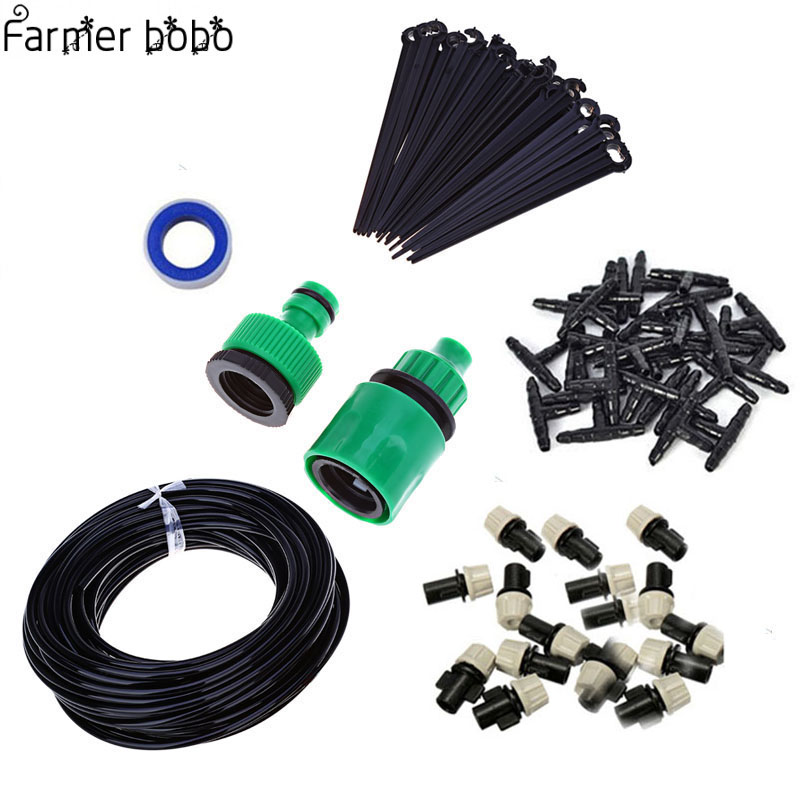 Drip irrigation irrigation system Portable Misting Automatic Watering 10m Garden hose Spray head with 4/7mm tee and connector