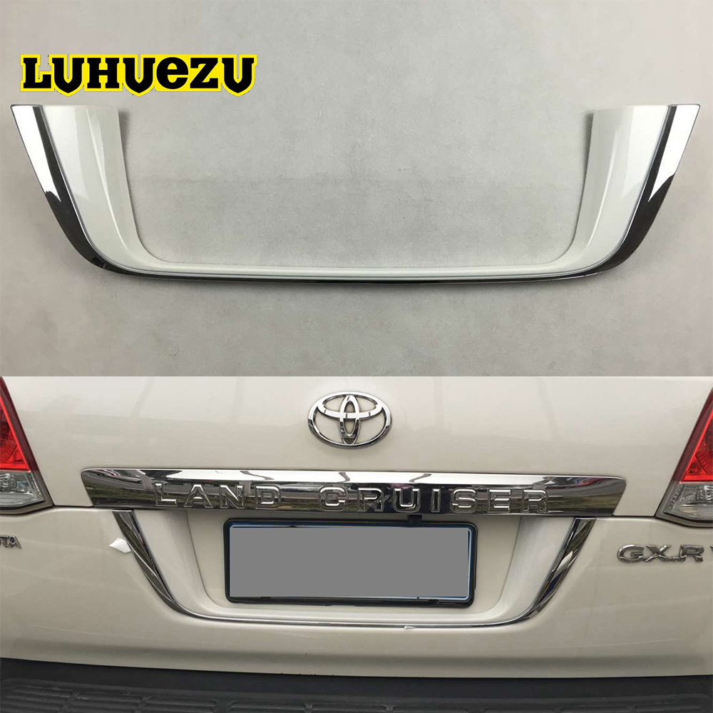3 Color ABS Rear License Frame Plate Cover Chrome with Painting For Toyota Land Cruiser 200