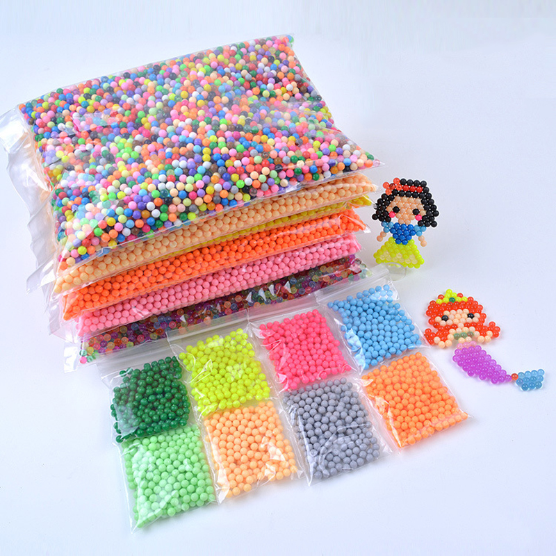 2019 New 6000 Pcs Water DIY Magic 5mm Beads Ball Jouets Perler Hama Pixels Magic Beads Jigsaw Puzzle Educational Toy