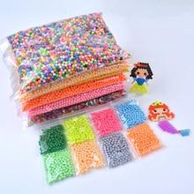 2019 New 6000 pcs Water DIY Magic 5mm Beads Ball Jouets Perler Hama Pixels Magic Beads Jigsaw Puzzle Educational toy diy 5mm buckyballs ndfeb magnetic magic beads silver 125 pcs