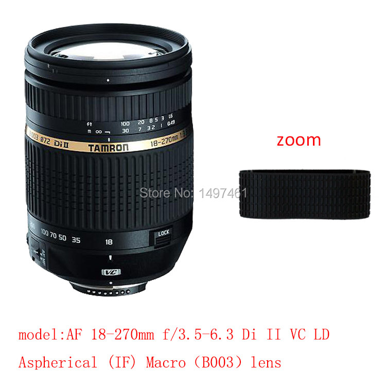 Lens Zoom Rubber Ring Succedaneum For Tamron AF 18-270mm f/3.5-6.3 Di II VC LD Aspherical (IF) Macro B003 lens
