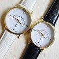 Eco789 @ HOT! новый Женские Часы Зонтик Стиль Печати Кожаный Ремешок Женщины Аналоговый Повседневная Кварцевые Наручные Часы Бесплатная Доставка