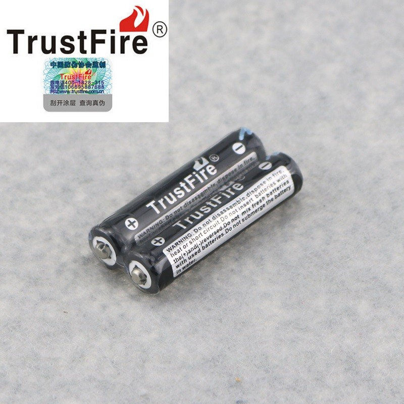 2pcs <font><b>3.7V</b></font> <font><b>600mAh</b></font> TrustFire 10440 Rechargeable Li-ion Battery AAA Batteria with PCB Protection Diver Board For Toys headlamps image