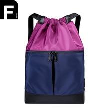 Стильный Цвет соответствующие Для женщин Рюкзаки легкий нейлон Для женщин Back Pack одноцветное Цвет Винтаж Унисекс Шнурок Мешок Для Подростка