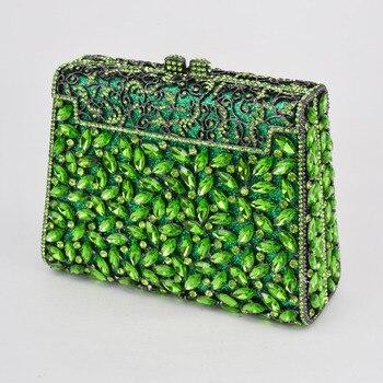Silver Box Bag Diamond Women Clutch Bag Crystal Party Handbag Ladies Banquet Purse Fashion Pochette Prom Evening bag SC452