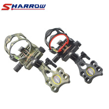 Sharrow 5-Pin Compound Bow Sight Short Bar Micro Adjustable 2 Colors Hunting Shooting Archery Accessory