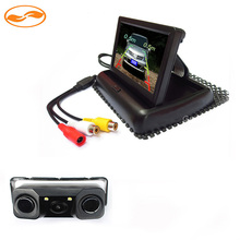 Folding 4.3 Inch TFT LCD Rearview Mirror Monitor with All-in-one Car Rear