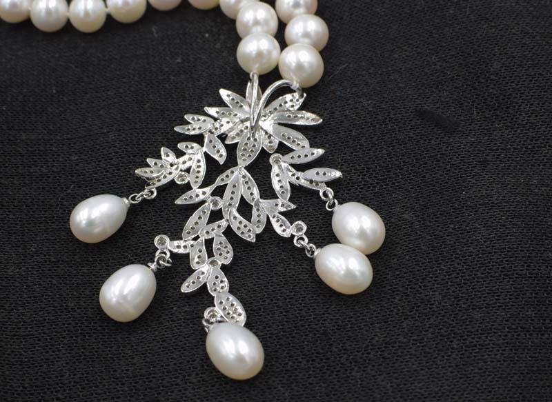 քաղցրահամ ջրերի մարգարիտ սպիտակ 9-1`0 - Նուրբ զարդեր - Լուսանկար 3