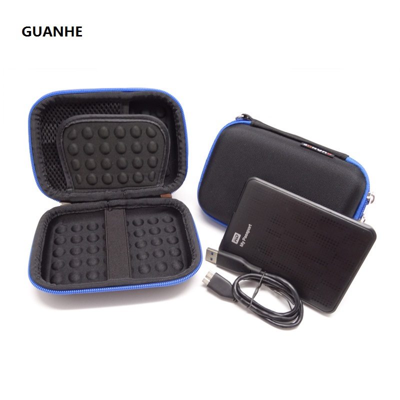 GUANHE Carrying Case For Portable External Hard Drive bag For Seagate Expansion Backup Plus Slim,WD My Passport Ultra Toshiba