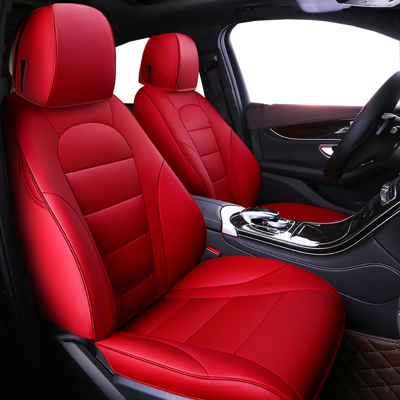 Auto Universal rindsleder sitz abdeckung Für Skoda Octavia RS Fabia Superb Schnelle Yeti Spaceback GreenLine Joyste Jeti styling
