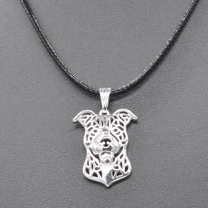 2018 женский ювелирный сплав Ожерелья для мужчин любителей питбультерьер Подвески веревки Цепи