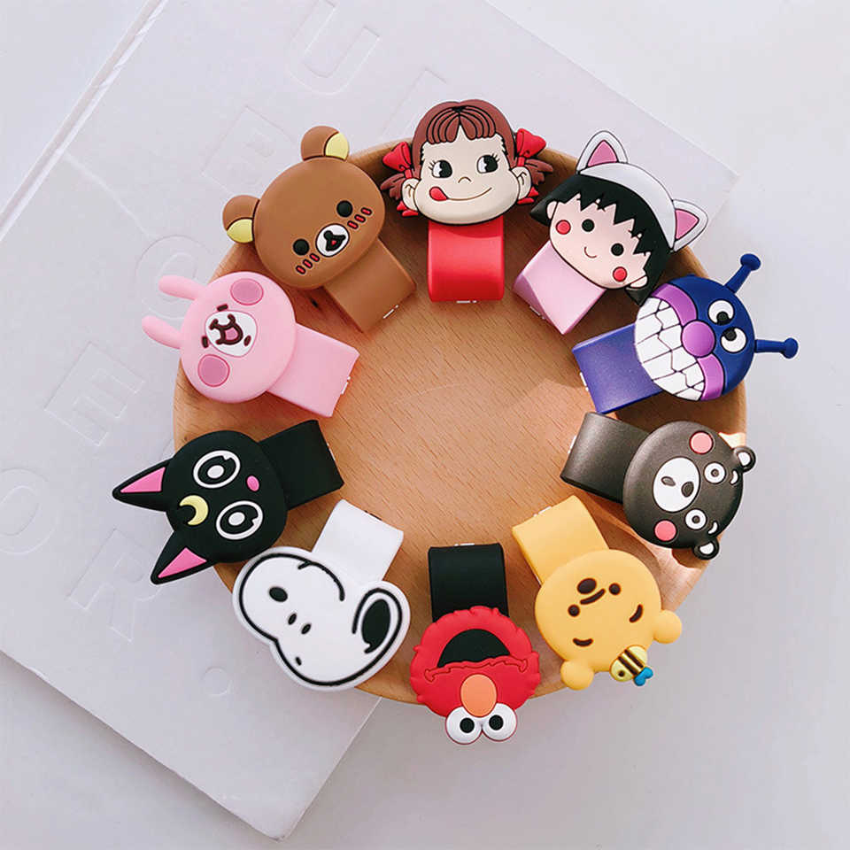 Cartoon Cable Organizer Bobbin Winder Protector Wire Cord Management Marker Holder socket Cover For Earphone iPhone Sansung USB
