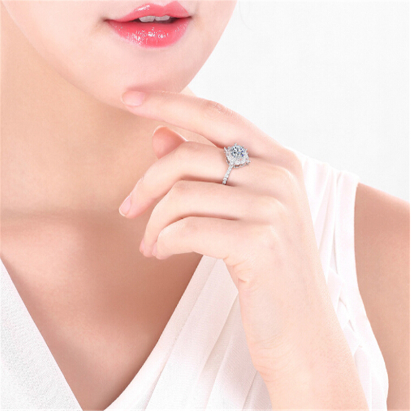 Limited edition Wedding ring Special moment for her Best gift Simple Top quality Silver Ring Engagement anel feminino 8