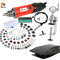 Tungfull 500W Mini Electric Drill With 6 Position Variable Speed Dremel Style Rotary Tools Mini Grinding