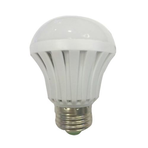 High voltage 1 E27 19LED 2835 SMD 7W plastic LED intelligent emergency light bulb 278LM white light 85V-265V with packaging