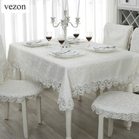 Hot Sale Elegant 100 Polyester Lace Tablecloth For Wedding Party Home Table Linen Cloth Cover Textile