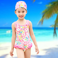 baby swimwear little girls swimsuit with ruffles 2017 new style 2-5y lovely girls one piece swimming dress good quality