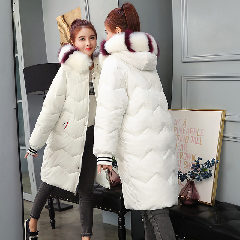 Winter Maternity Coat for Pregnant Women Fur Collar Hooded Jacket Maternity Clothes Outwear Down Parkas Pregnancy Clothing winter long maternity hooded jacket pregnancy coat jacket fur collar side pocket drawstring coat for pregant woman snow outwear