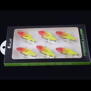 Image 2 - 6 pièces/boîte 2016 nouveau Type VIB pêche leurre ensemble plomb poisson appâts souples Wobbler carpe matériel de pêche 15G 62mm Isca artificiel Pesca
