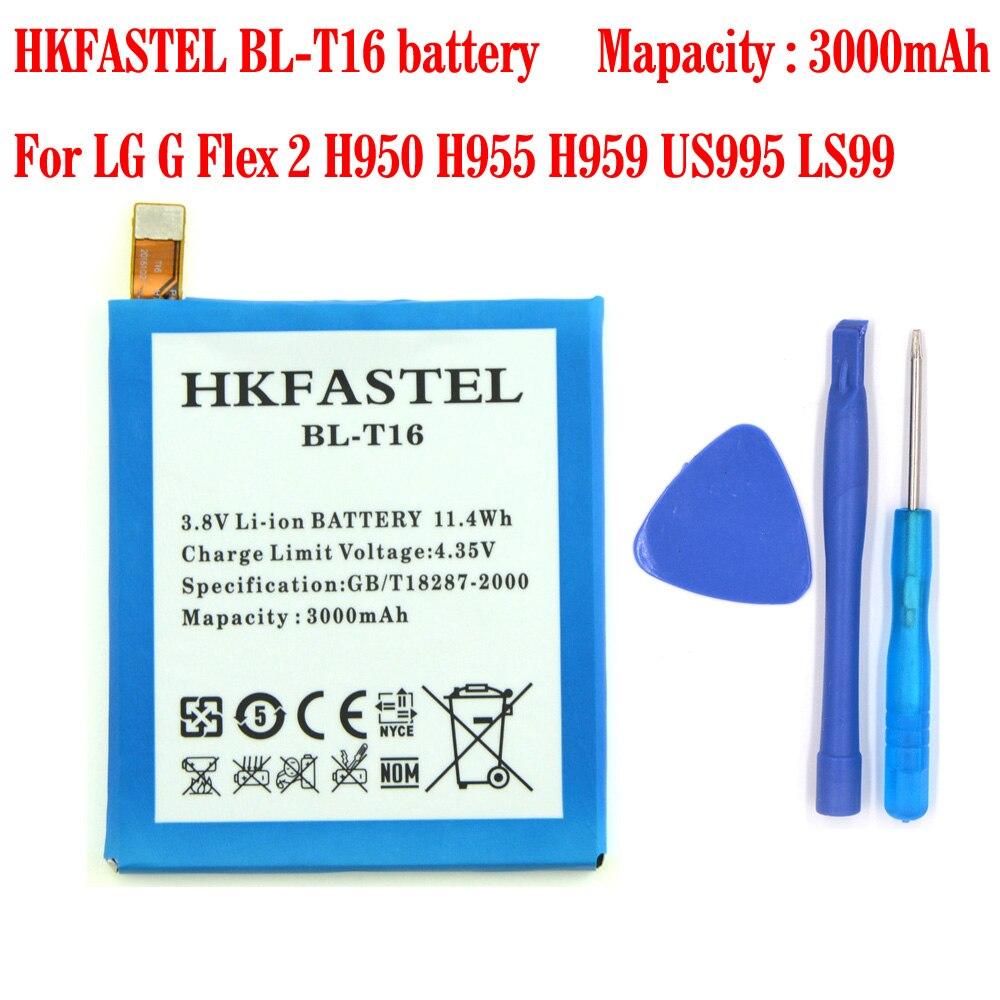 HKFASTEL Nouveau BL-T16 d'origine batterie de téléphone portable Pour LG G Flex 2 H950 H955 H959 US995 LS99 batteries pièces 3000 mAh