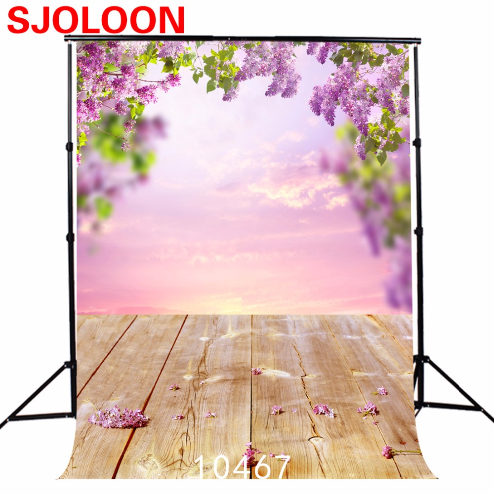 5x7ft Spring flowers photography background   Fond studio photo vinyle  wood Photography backdrops Photo background 10467