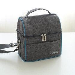 جديد الأزياء أكسفورد القماش الغذاء حقيبة حرارية الحرارية الغداء حقيبة للأطفال النساء أو الرجال سعة كبيرة معزول حقيبة تخييم مربع