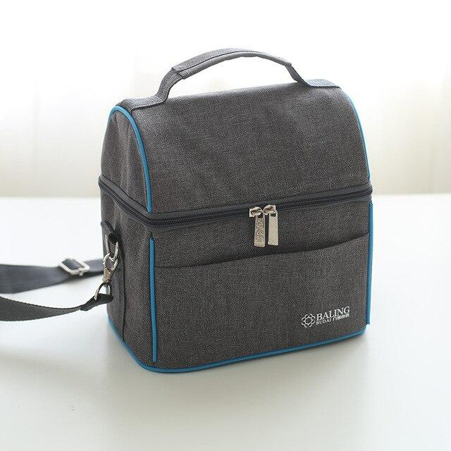 Nova moda Oxford pano saco de comida saco térmico almoço térmica para as crianças mulheres ou homens de Grande capacidade de isolamento saco do piquenique caixa