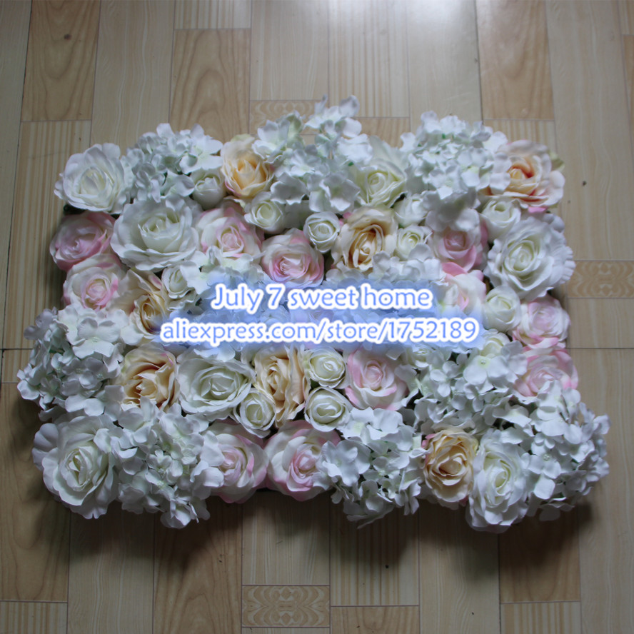 10pcslot Artificial Silk Pink Side Rose Flower Wall Wedding