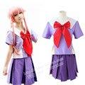 Mirai Nikki Gasai Yuno cosplay uniforme traje uniforme escolar
