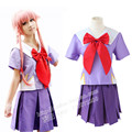 Mirai Nikki Gasai Yuno uniform cosplay costume school uniform clothing