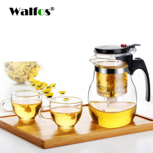 купить High quality Heat Resistant Glass Teapot Chinese kung fu Tea Set Puer Kettle Coffee Glass Maker Convenient Office Tea Pot дешево