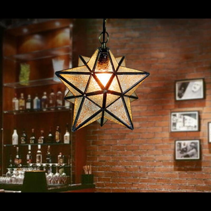 Loft Vintage Ceiling Lamp, Shooting Star Tiffany Glass Pendant Lighting for Home Aisle Corridor Porch Shop Decoration luminaire kromax pixis xl