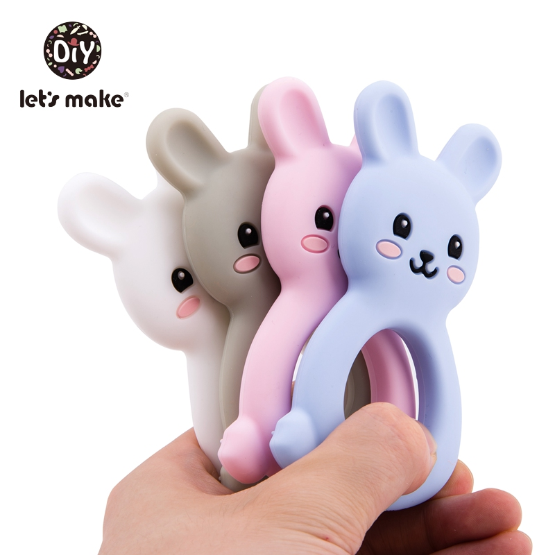 Let 39 s Make 1pc Baby Teethers Food Grade Silicone Cat Animal Bpa Free Baby Teething Toy 4 6months Infant NursingSilicone Teether in Baby Teethers from Mother amp Kids