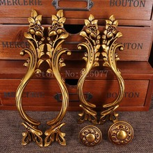 4PCS/lot Cabinet Knobs Antique Kitchen Door Handles Cupboard Wardrobe Drawer Pull Handle and JF1308