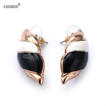 CHUKUI 2017 New Style Zinc alloy Elegance earrings for women fine jewelry Fashion Female Epoxy Friendship
