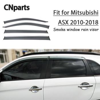 CNparts 4pcs ABS For Mitsubishi ASX 2010 2011-2018 Car Smoke Window Visor Keep  Fresh Air  convection Accessories