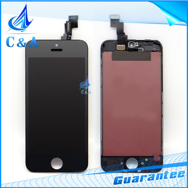 1 piece 100% tested replacement repair parts for iphone 5C lcd display with touch screen digitizer+frame