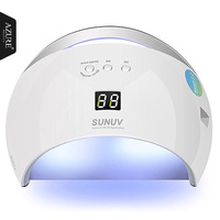 Azure Beauty 48W SUN6 UV Led Lamp Portable High Quality Nail Dryer With Sensor And LCD