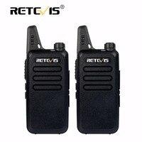 2pcs Mini Walkie Talkie Retevis RT22 2W UHF 400 480MHz VOX Scan CTCSS DCS Dustproof Ham