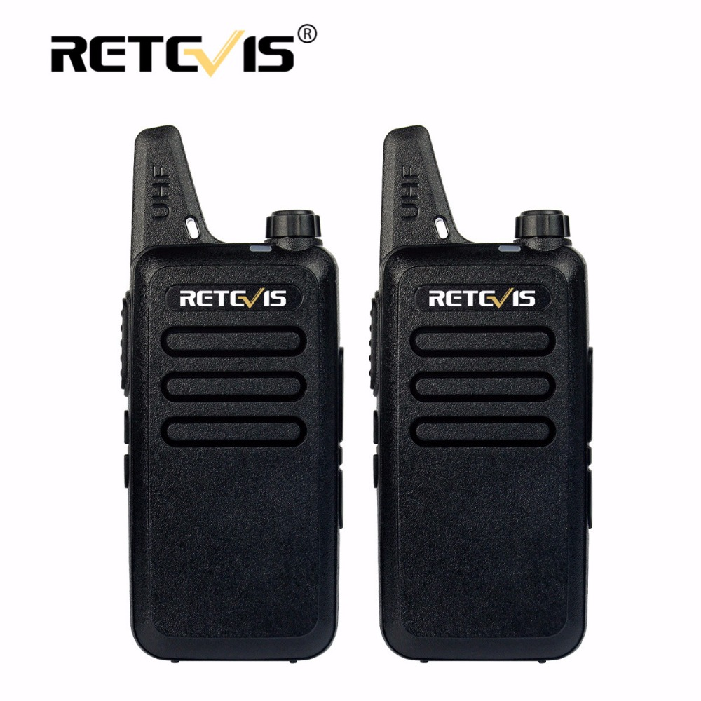 2 stücke Mini Walkie Talkie Retevis RT22 2 Watt 16CH UHF VOX Scan Tragbare Ham Radio Hf Transceiver cb Radio Communicator Walkie-talkie