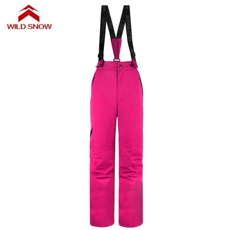 Pantalon de Ski hydrofuge femme hiver sports de plein air snowboard bavoir salopette pantalon coupe-vent Ski des neiges pantalon S-XXL - 5