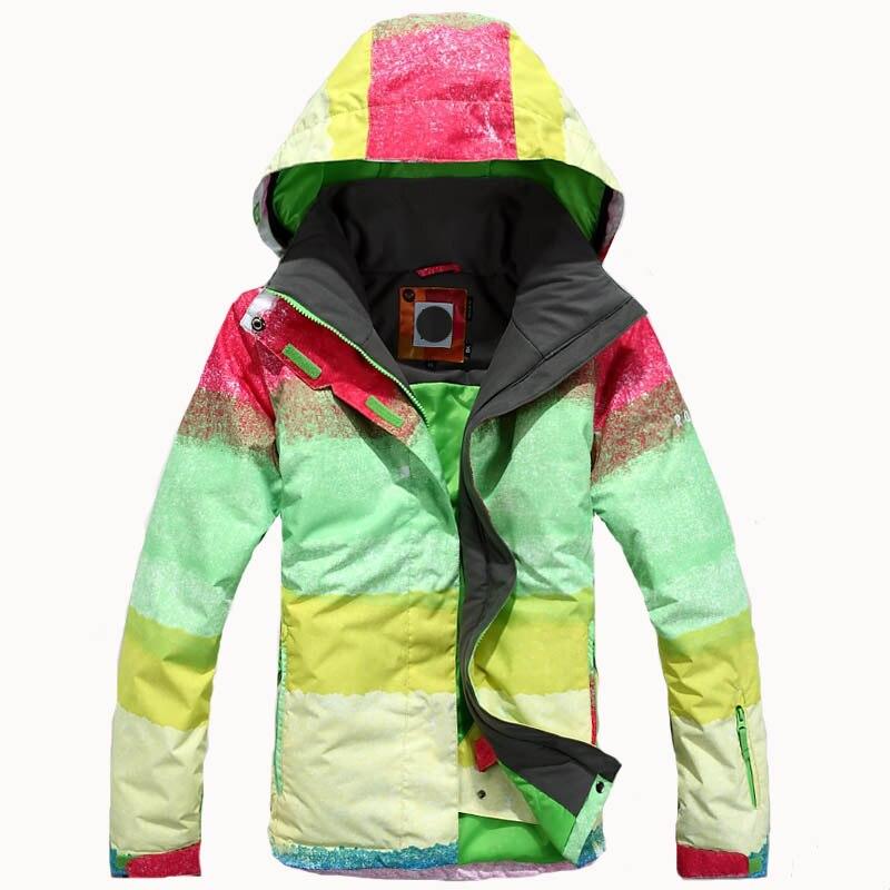 Prix pour Livraison Gratuite 2017 bonne femmes en plein air Vestes ski costume Dames Snowboard Vêtements 10 K Coupe-Vent Imperméable Respirant Hiver
