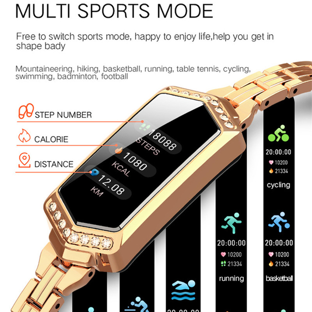 Luxury Watch Best Smartwatch for Women Waterproof Smart Watch Heart Rate Blood Pressure Monitor Fitness Tracker 5