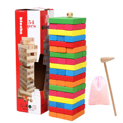 ФОТО The folding lego sobbed layer upon layer stack children wooden puzzle board toys