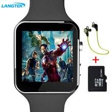 Langtek smart watch x6 para ios android teléfono de ayuda multi idiomas con cámara bluetooth smart watch podómetro tarjeta sim
