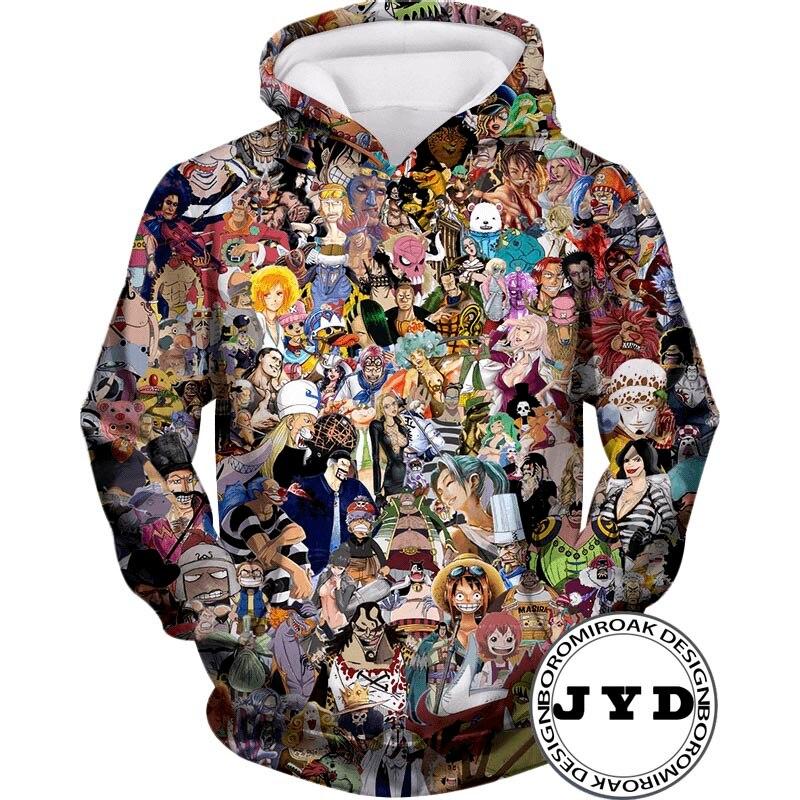 One Piece Hoodie 3d Print Hoodies Men Women Hooded Anime Sweatshirts hip hop Pullover Quality Sweatshirt Streetwear Jumper in Hoodies amp Sweatshirts from Men 39 s Clothing