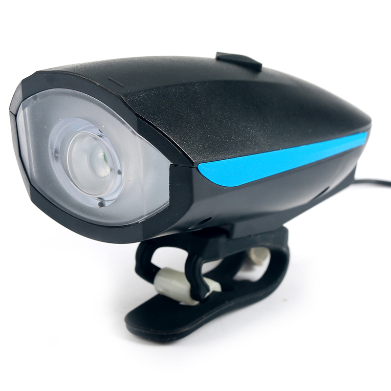 Bike Light Head LED-ficklampa med Bell Luces Bicicleta - Cykling - Foto 2
