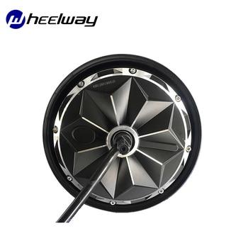 Motor de cubo pulgada de una línea para bicicleta, Motor de acero magnético, sin escobillas, sin engranajes, 60V/72V/96V 3000W 55