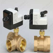 Internal thread electric ball valve DC24V DC  three-way DN32