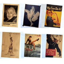 American classic vintage nostalgic poster bar home decoration painting